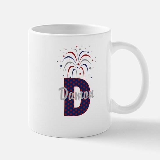 4th of July Fireworks letter D Mug