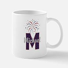 4th of July Fireworks letter M Mug