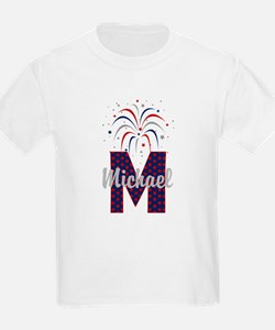 4th of July Fireworks letter M T-Shirt