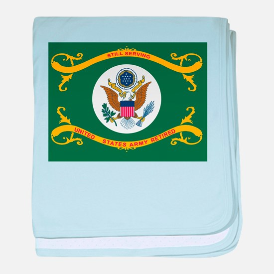 US Army Retired Flag baby blanket
