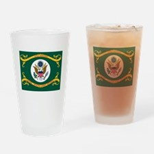 US Army Retired Flag Drinking Glass