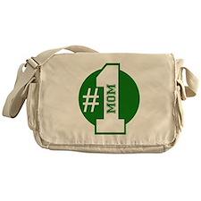 Number 1 Mom (Green) Messenger Bag