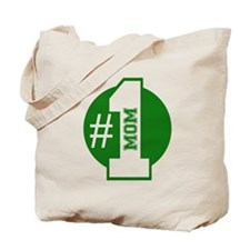 Number 1 Mom (Green) Tote Bag