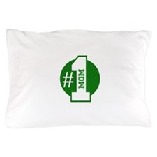 Number 1 Mom (Green) Pillow Case