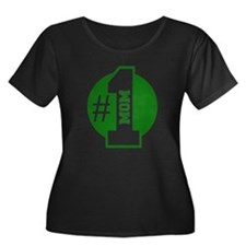 Number 1 Mom (Green) Plus Size T-Shirt