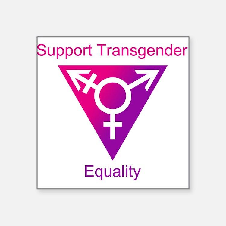 "Transgender Equality Square Sticker 3"" x 3"""