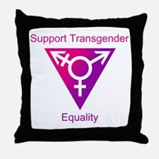 Transgender Equality Throw Pillow