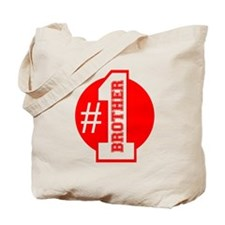 Number 1 Brother (Red) Tote Bag