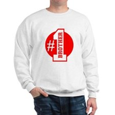Number 1 Brother (Red) Sweatshirt