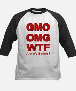 GMO OMG WTF Are We Eating? Baseball Jersey