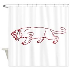 Sabre Tooth Caveman Shower Curtain