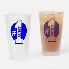Number 1 Aunt (Blue) Drinking Glass