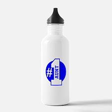 Number 1 Aunt (Blue) Water Bottle