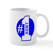 Number 1 Aunt (Blue) Mug