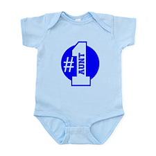 Number 1 Aunt (Blue) Body Suit