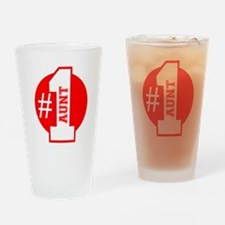 Number 1 Aunt (Red) Drinking Glass