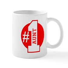 Number 1 Aunt (Red) Mug