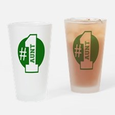 Number 1 Aunt (Green) Drinking Glass