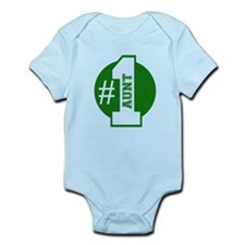 Number 1 Aunt (Green) Body Suit