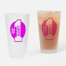 Number 1 Aunt (Pink) Drinking Glass