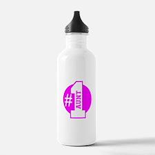 Number 1 Aunt (Pink) Water Bottle