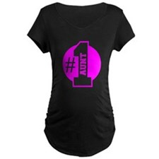 Number 1 Aunt (Pink) Maternity T-Shirt