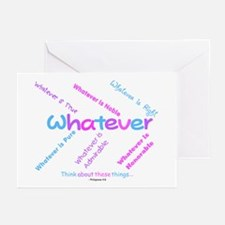Whatever - Light Blue, Purple Greeting Cards (Pack