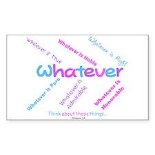 Whatever - Light Blue, Purple Sticker (Rectangular