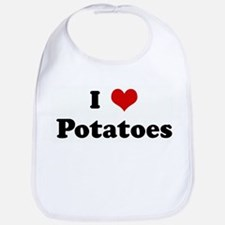 I Love Potatoes Bib