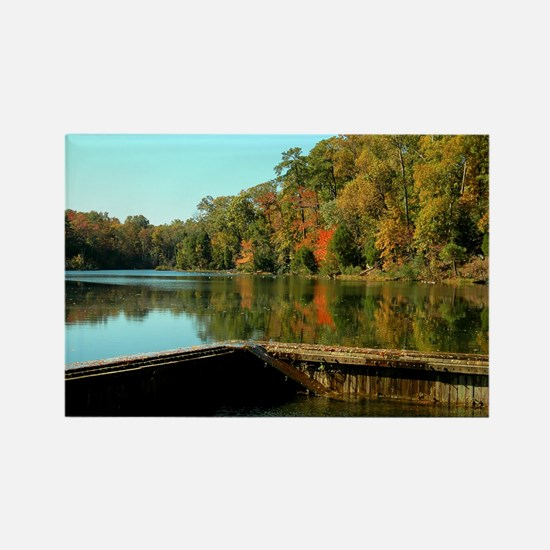 Fall in Yorktown Rectangle Magnet