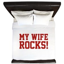 My Wife Rocks! King Duvet