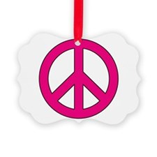 Magenta Peace Sign Ornament
