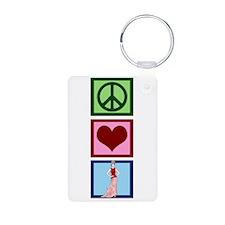 Peace Love Fashion Keychains
