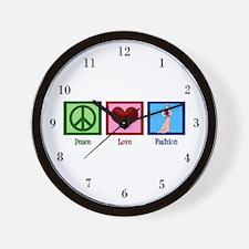 Peace Love Fashion Wall Clock