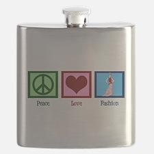Peace Love Fashion Flask