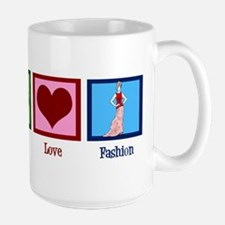 Peace Love Fashion Large Mug