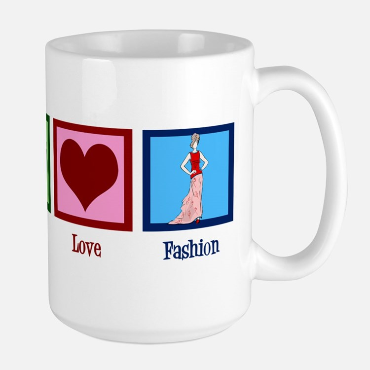 Peace Love Fashion Large Mug