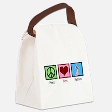 Peace Love Fashion Canvas Lunch Bag
