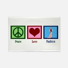 Peace Love Fashion Rectangle Magnet