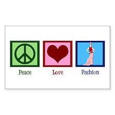 Peace Love Fashion Decal
