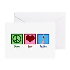 Peace Love Fashion Greeting Card