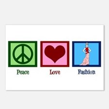 Peace Love Fashion Postcards (Package of 8)