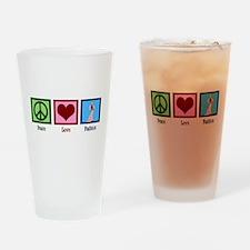 Peace Love Fashion Drinking Glass