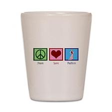 Peace Love Fashion Shot Glass