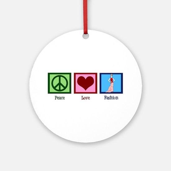 Peace Love Fashion Ornament (Round)