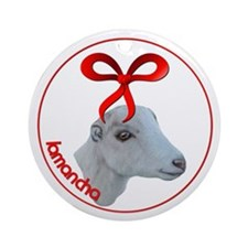 Goat Christmas LaMancha Ornament