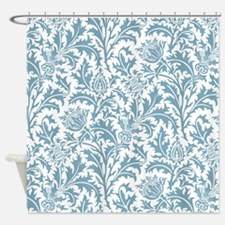 Pastel Teal William Morris Thistle Pattern