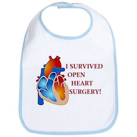 I Survived Open Heart Surgery Bib