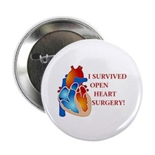 I Survived Open Heart Surgery Button