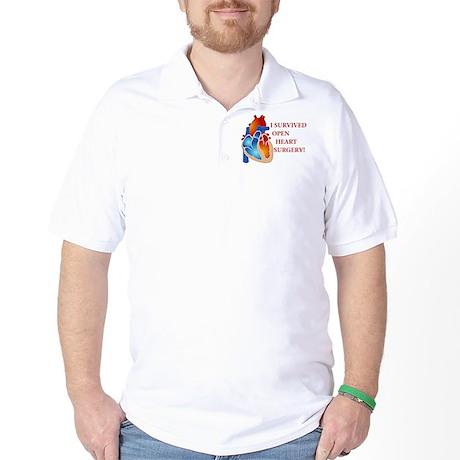 I Survived Open Heart Surgery Golf Shirt